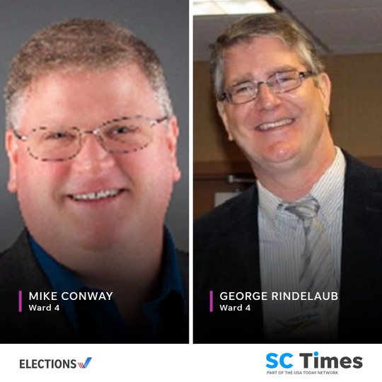 St. Cloud City Council Ward 4 candidates Mike Conway and George Rindelaub.