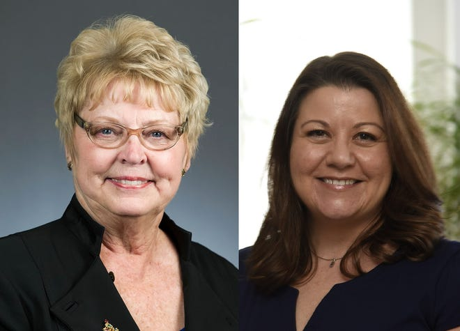 Republican Sondra Erickson and Democrat Emy Minzel are competing to represent House District 15A. Erickson is the incumbent.