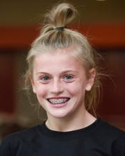 The ROCORI girls cross country team member Katelyn Motter shown Monday, Oct. 29, at the ROCORI High School in Cold Spring.