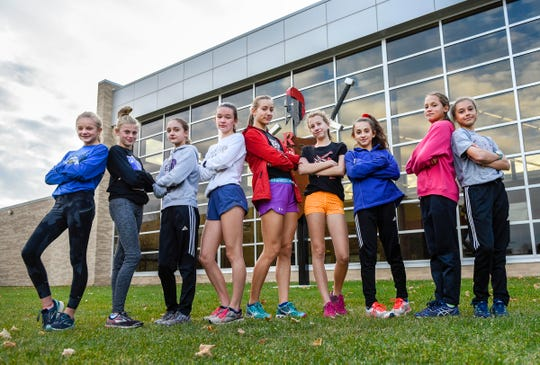 The ROCORI girls cross country team is making its first trip to the state meet since 1994. Members are shown Monday, Oct. 29, at ROCORI High School in Cold Spring.