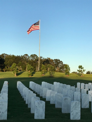 Tallahassee National Cemetery has over 1,000 veterans interred with a capacity for 87,000 veterans.