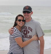 Anna and Dane Holihan, a former assistant football coach at Florida High, Chiles alum, and current assistant coach at Mosley. The couple endured Hurricane Michae's destruction in Lynn Haven that ruined their home.