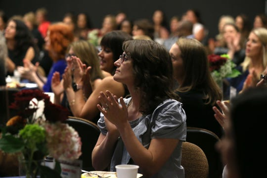 Women and men from throughout the Tallahassee community attend the United Way of the Big Bend Second annual Women's Breakfast held at the Florida State University Turnbull Conference Center on Tuesday, Oct. 30, 2018.