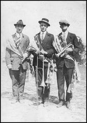 Three patriotic Stuart fellows, from left, Jack McDonald, Darrel Smith & Leeson Ziegler.