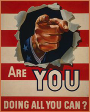 Poster encouraging the public to do all they can do.