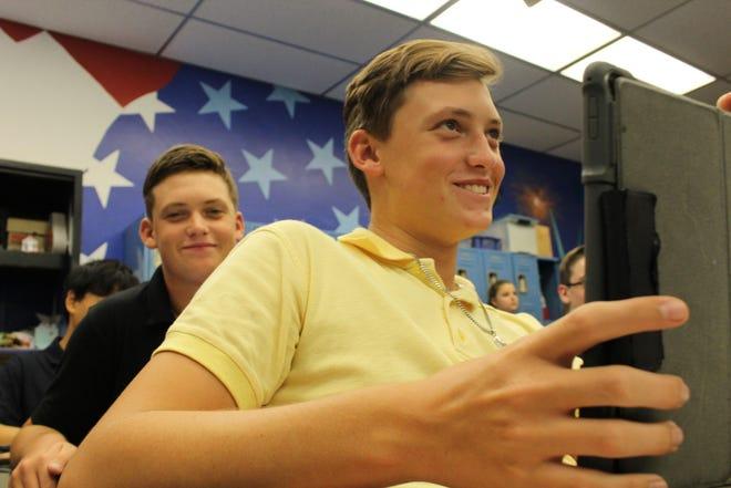 John Carroll Catholic High School students in the classroom.