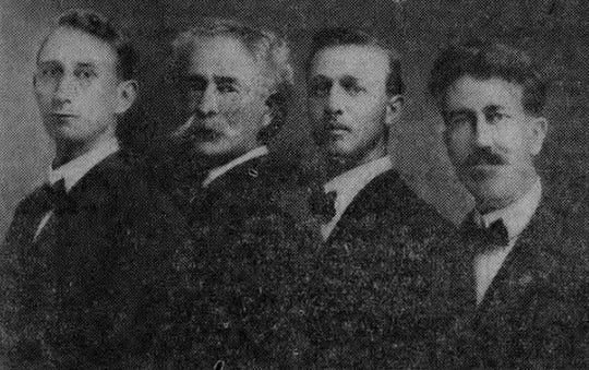 Aeolian Quartet with Clinton Ward, Harry Allen, Stuart Noble and A. LeRoy Lane.