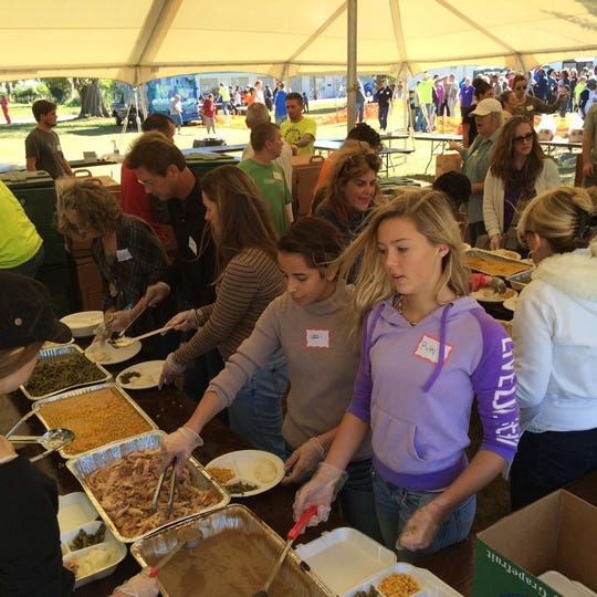 Volunteers are needed on Thanksgiving Day to help prepare, serve plates and clean up are needed between 10:30 a.m. and 3:30 p.m.