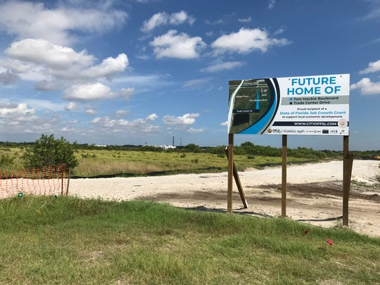 Port St. Lucie is developing a road network in the Tradition Center  for Commerce to set the stage for the construction of new businesses.