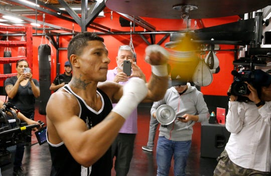 """WBC Super Featherweight Champion Miguel Berchelt will put his title on the line Saturday night in the Don Haskins Center against challenger Miguel """"Mickey"""" Roman. Fighting in the 130-pound weight class, Berchelt and Roman look to put on a good fight for El Paso boxing fans. The doors will open at 4 p.m., with the first bout scheduled to enter the ring at 4:30 p.m. on an eight-bout card being put on by Top Rank Boxing and ESPN."""