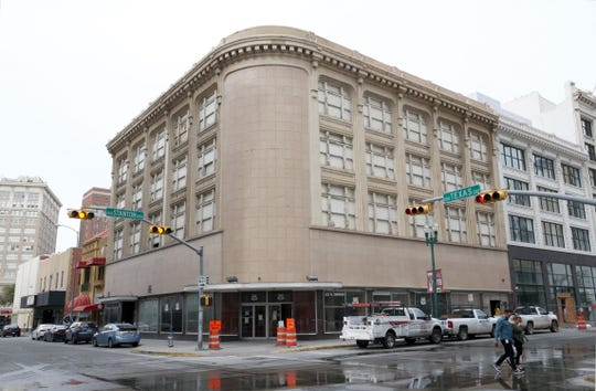 The Newberry building at 201 N. Stanton St., at Texas Ave. in Downtown El Paso. is one of nine Downtown buildings owned by William Abraham that may be sold in a Nov. 6 bankruptcy court auction.