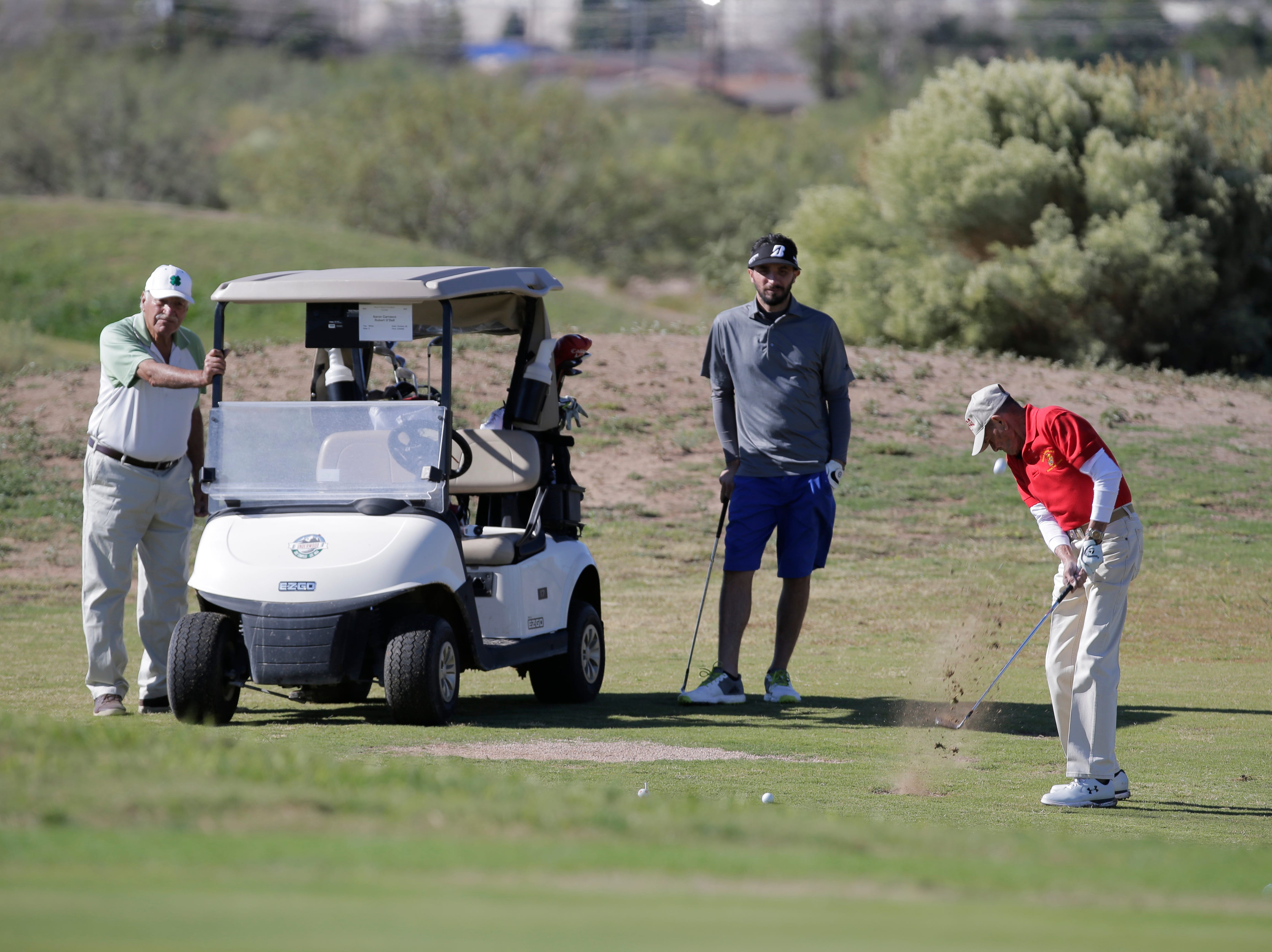 Members of the Moy's Boys Jefferson Foxes held their 8th Annual, 2018 Youth Benefit Golf Tournament at Ft. Bliss Underwood Golf Course. All funds raised by the group will benefit disadvantaged students currently enrolled in elementary, middle and high schools in the Thomas Jefferson/Silva Magnet High School area.