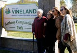 The City dedicated a new sign in honor of former Mayor Anthony Campanella at South Vineland Park. Mayor Anthony Fanucci honored members of the Campanella family in attendance on Tuesday, October 30, 2018.