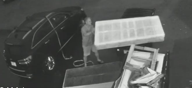At around 8:52 p.m. on June 17, a male suspect decided to dump his twin mattress, box spring, and bag of garbage at Brandenburg Plumbing and Heating, in Wausau.