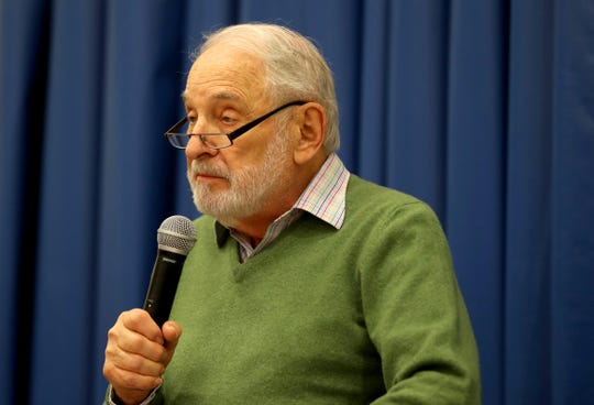 Holocaust survivor Paul Galan, President of the Holocaust Museum and Center for Tolerance and Education, gave the keynote address during a vigil at JCC Rockland in West Nyack Oct. 29, 2018. The vigil honored the victims of the fatal shooting at a Pittsburgh synagogue Saturday.