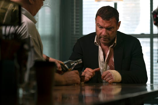 "Liev Schreiber films an episode of ""Ray Donovan"" at O'Donoghue's Tavern in Nyack."
