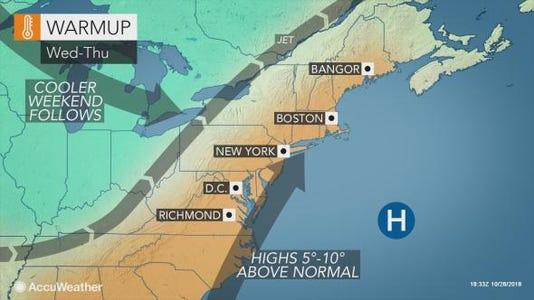 Warm weather forecast 10-30-18