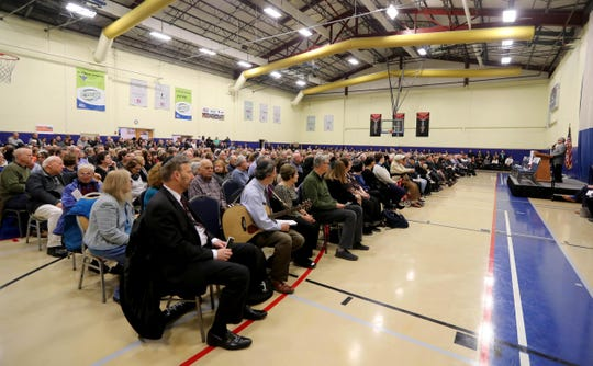 Close to 1,000 people attended a vigil at JCC Rockland in West Nyack Oct. 29, 2018 in honor the those killed in the fatal shooting at a Pittsburgh synagogue Saturday.