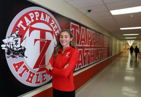 Rockland Scholar-Athlete Tori Fears of Tappan Zee, who runs cross-country and track, at the high school Oct. 30, 2018.