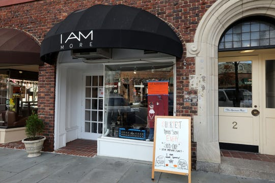 The exterior of I Am More, a women's clothing boutique that supports women-owned designers and gives back to women's philanthropic organizations, in Scarsdale Oct. 29, 2018. It's one of the businesses that will hope to reap the benefits of free 2-hour parking in the village Dec. 21 to 25.