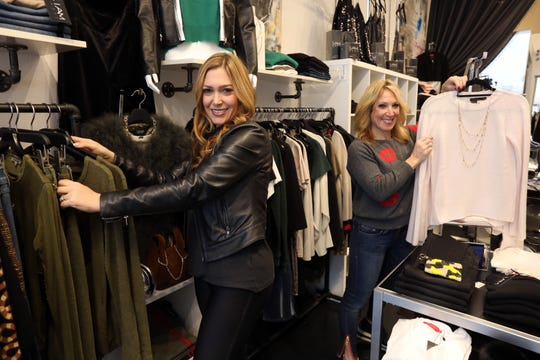 Marcy Berman-Goldstein and Abbey Solomon, co-founders of I Am More in Scarsdale, at the shop Oct. 29, 2018. I Am More is a women's clothing boutique that supports women-owned designers and gives back to women's philanthropic organizations.