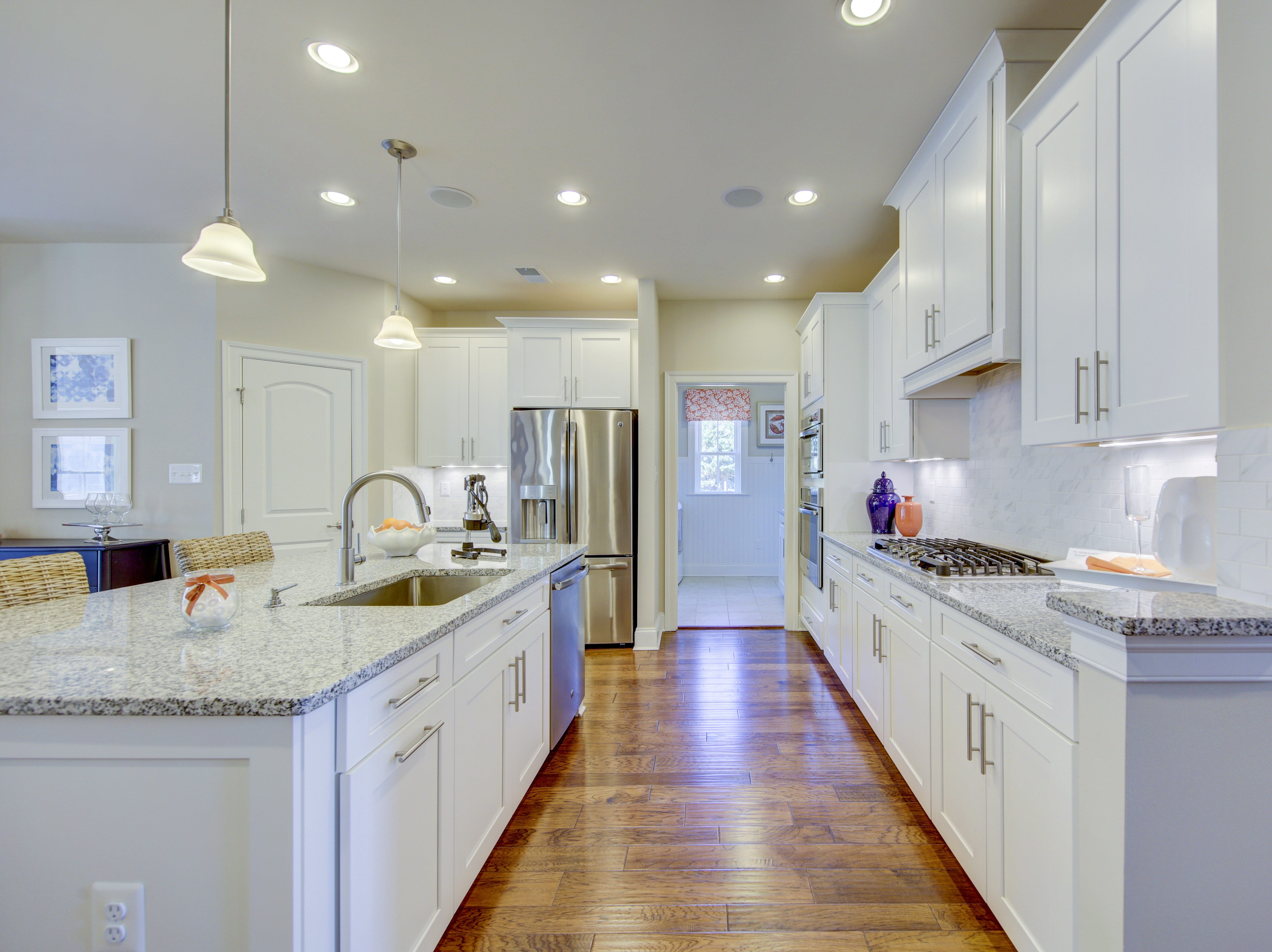Granite countertops in the model's home kitchen are an upgrade at The Overlook in Selbyville.