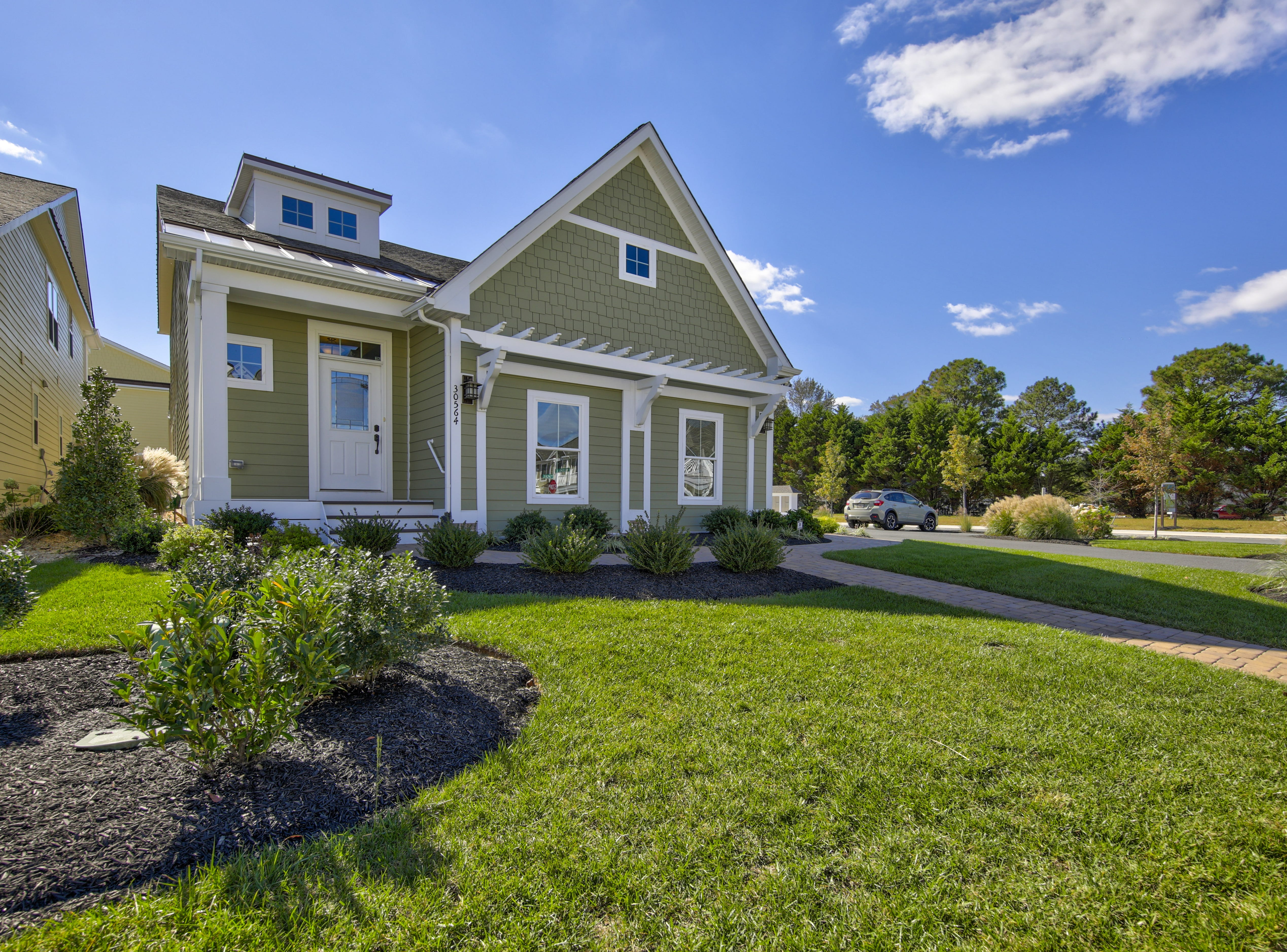 The model home at The Overlook in Selbyville has a low-maintenance exterior.