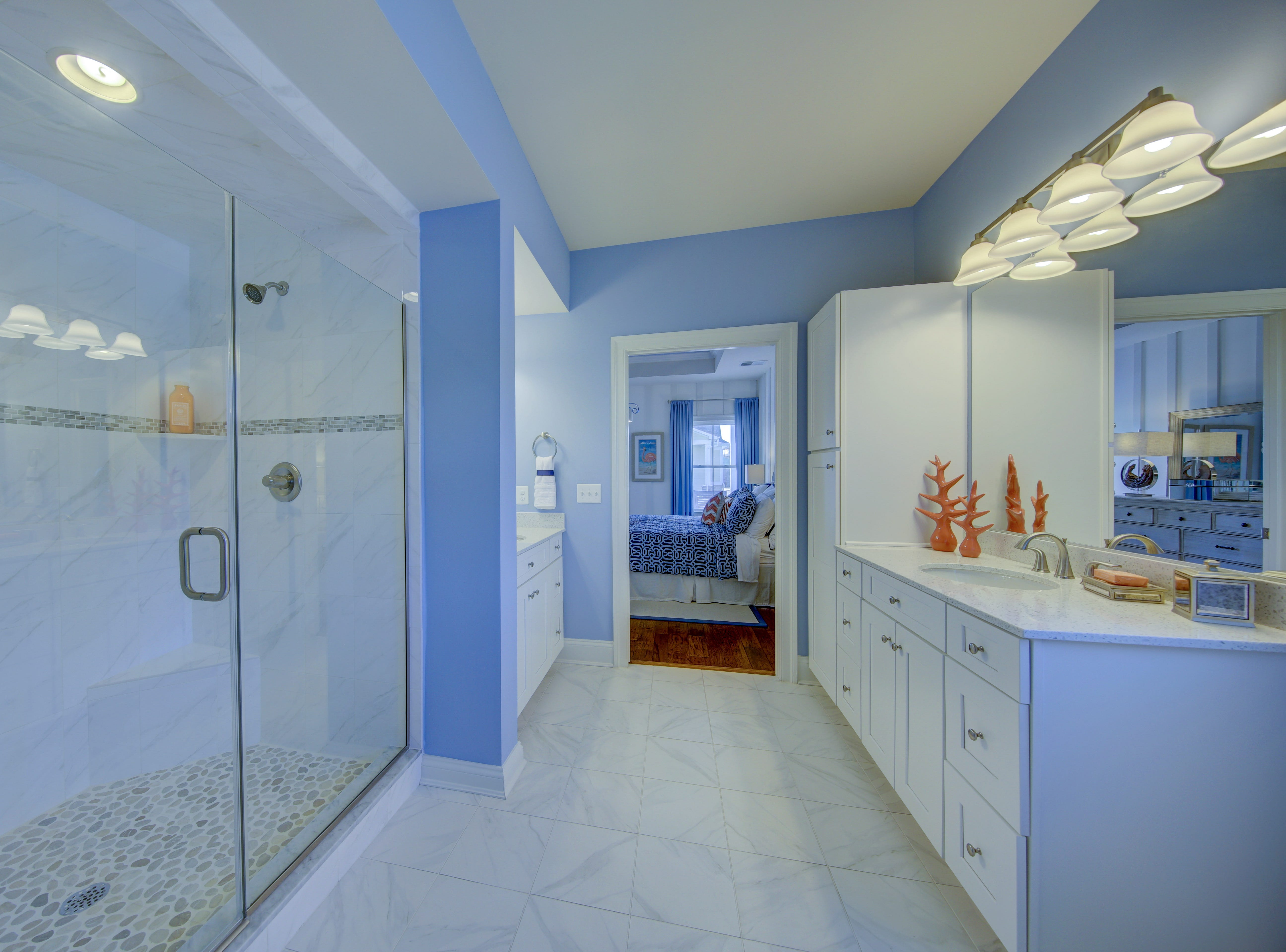 The Overlook's model home in Selbyville has four bathrooms.