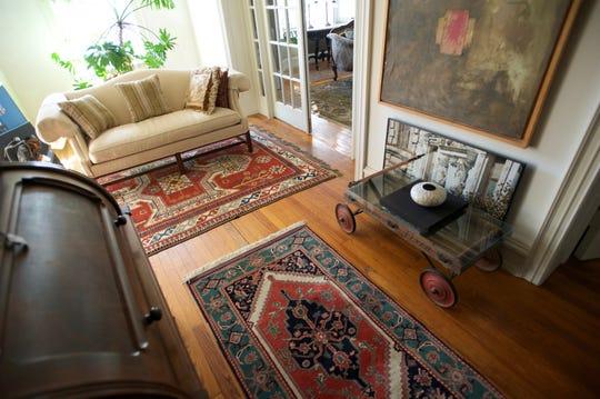 Postles House has the original heart of pine flooring.