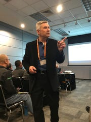 Gary Sipiorski, dairy development manager at VitaPlus, lays out a road map for young people looking to get started in the dairy industry during a seminar at World Dairy Expo last month.