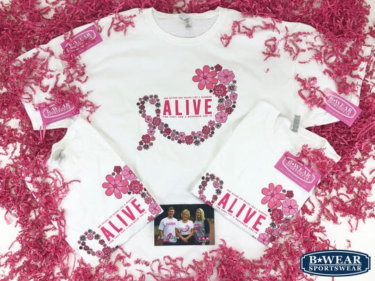 Julie Biles wanted to donate T-shirts to women who fought or are currently fighting breast cancer during Breast Cancer Awareness Month.