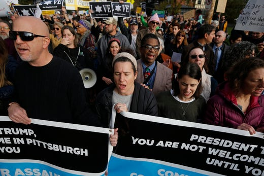 Image result for jews pittsburgh vs trump