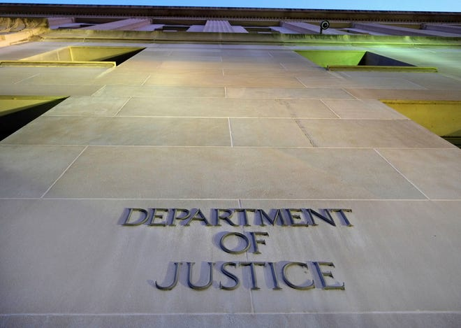 The Department of Justice headquarters building in Washington is shown May 14, 2013 in Washington, D.C.