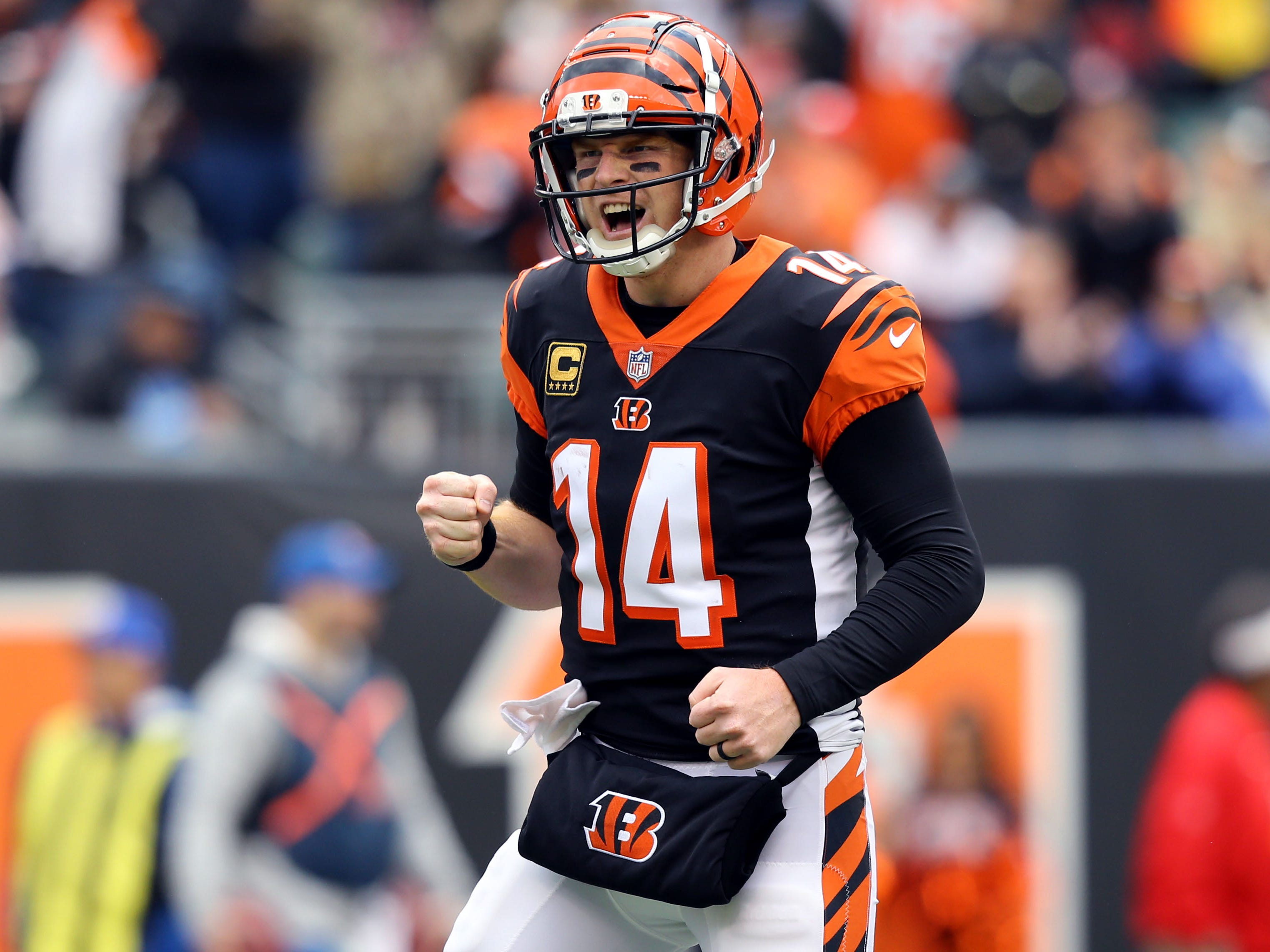12. Bengals (12): Treat — as they enjoy week off, they'll watch Ravens and Steelers beat up on each other — and Baltimore win would put Cincy back in first.