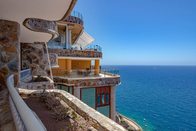 Gloria Palace Amadores Thalasso & Hotel, Canary Islands: Beautiful sea views are in store from nearly every vantage point of this Gaudi-esque all-inclusive resort in Gran Canaria. Built from natural stone in an undulating layout that subtly reflects the Atlantic Ocean below, the clifftop hotel offers balconies in all of its 392 rooms, nearly all of which have uninterrupted views of the deep blue water.