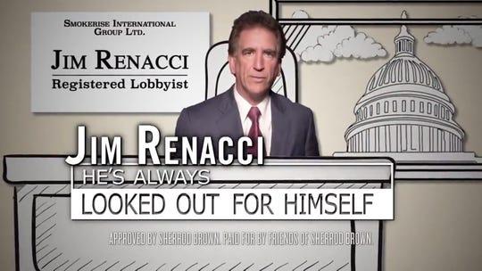 An ad for Sen. Sherrod Brown, D-Ohio, attacks Rep. Jim Renacci.