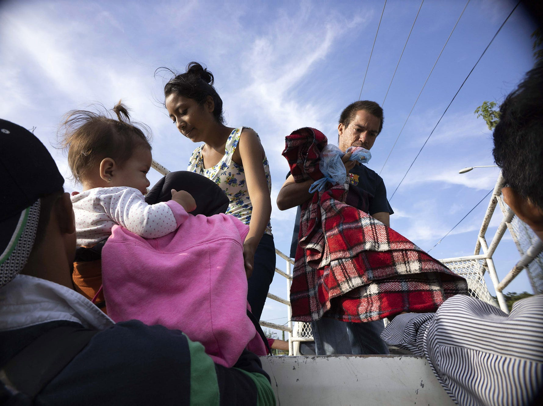 Thousands of Central American migrants traveling in a caravan that President Trump wants to stop at the US border began arriving in the city of Juchitan de Zaragoza before dawn on Tuesday, Oct. 30, 2018 in the state of Oaxaca in southern Mexico.