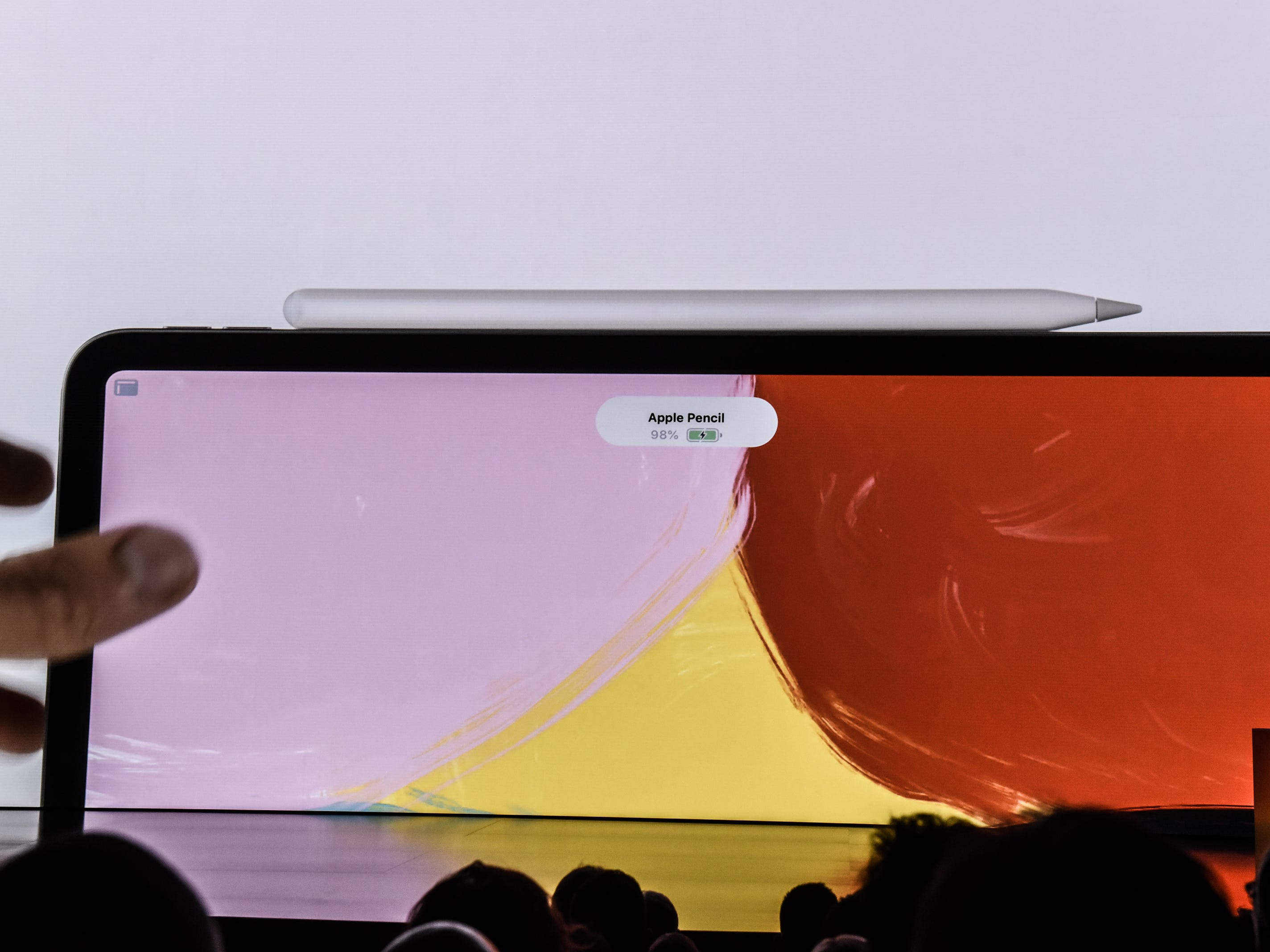 Apple unveils a new iPad Pro with new Apple Pencil during a launch event at the Brooklyn Academy of Music, Tuesday, Oct. 30, 2018.