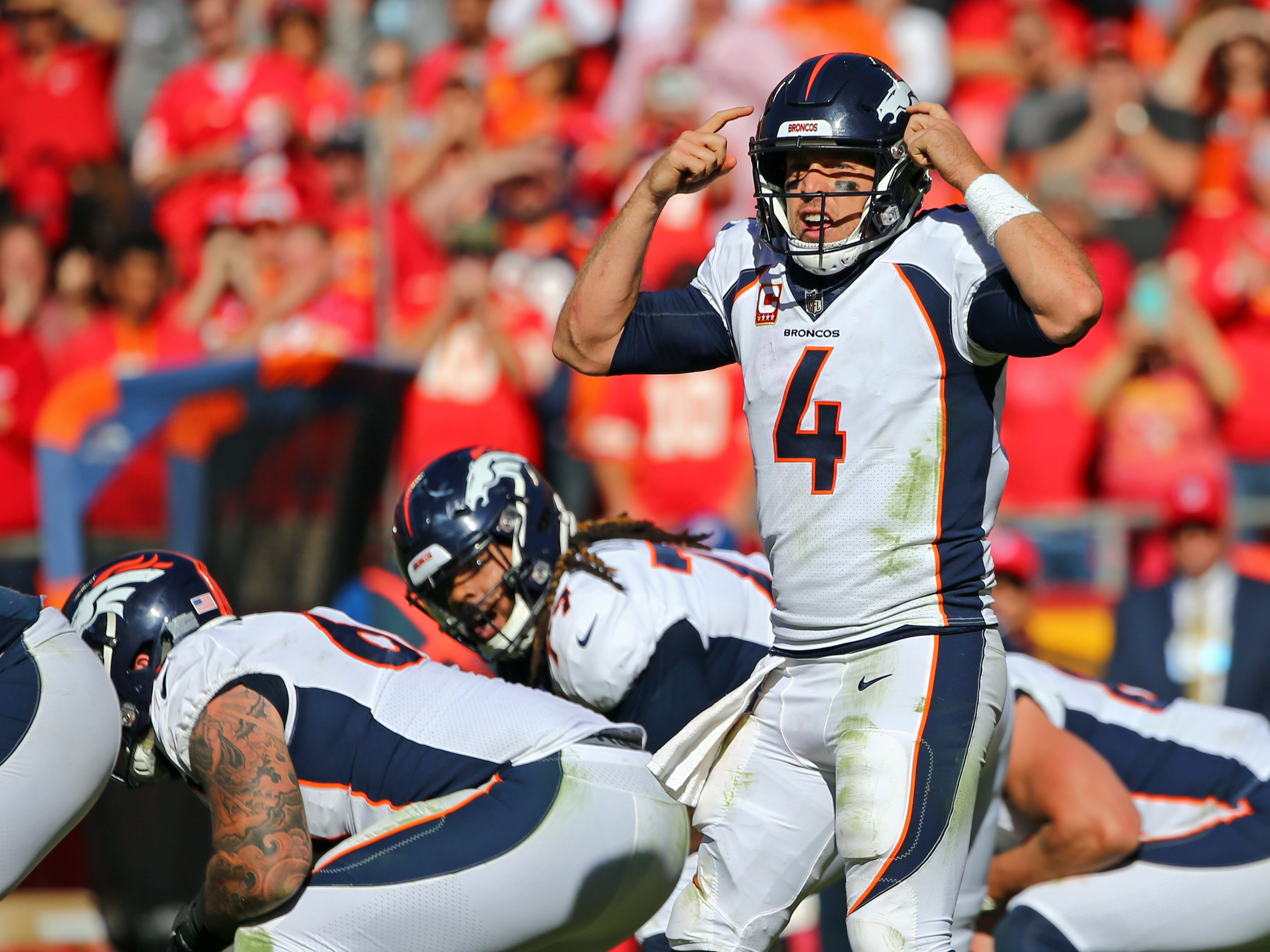 27. Broncos (26): Trick — we've harped on Case Keenum, who's thrown an INT in every game. But Denver hadn't lost a fumble ... until Keenum coughed one up Sunday.