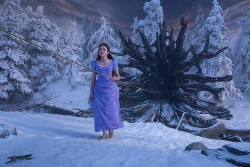 "Clara (Mackenzie Foy) ventures into the magical Christmas Tree Forest in ""The Nutcracker and the Four Realms."""