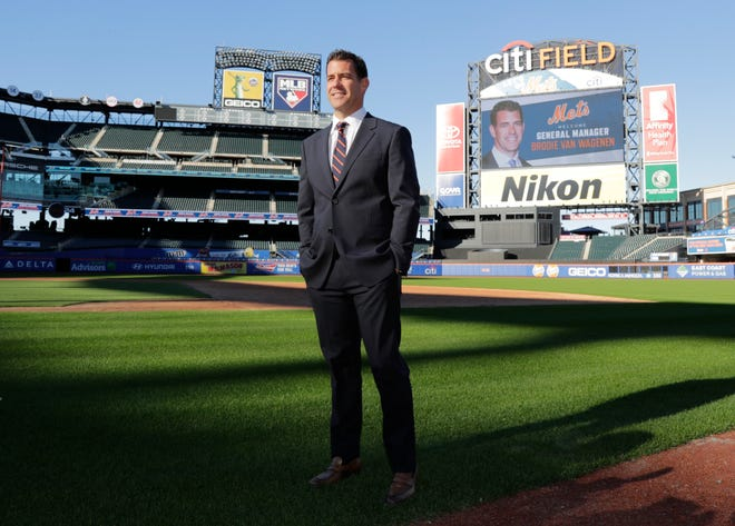 Mets new general manager Brodie Van Wagenen poses at CitiField.