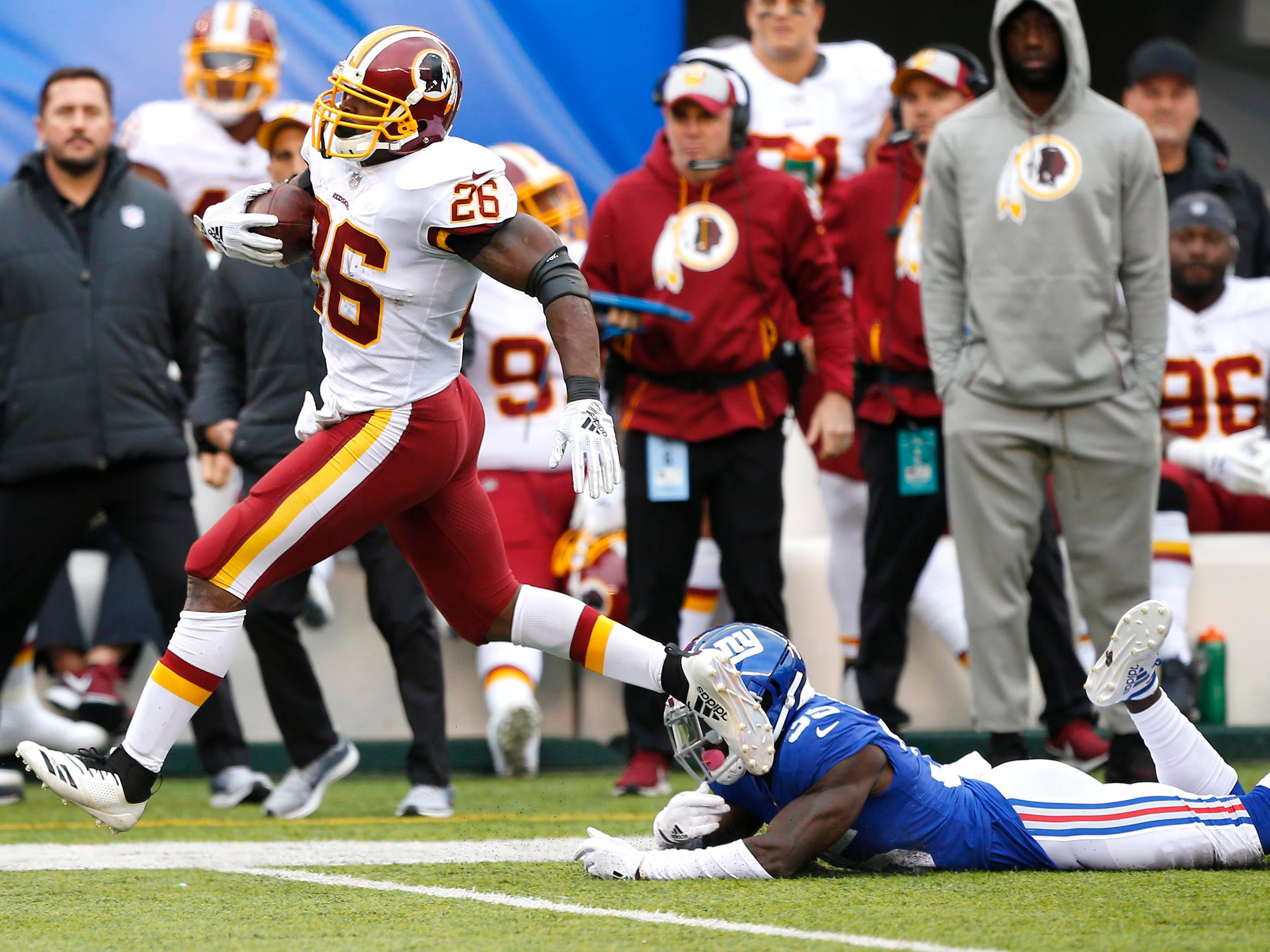 7. Redskins (9): Trick — so were you fooled into thinking Adrian Peterson was washed up? Sunday's 64-yard TD run was AD's latest stiff-arm to Father Time.