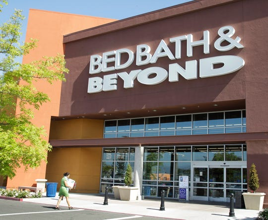 A Bed Bath & Beyond customer enters a store in Mountain View, Calif., Wednesday, May 9, 2012.