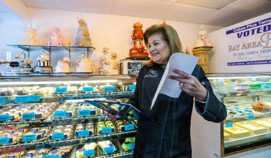 Cakes Plus owner Nina Torres shop