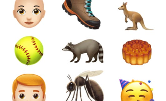 New emojis for iOS12