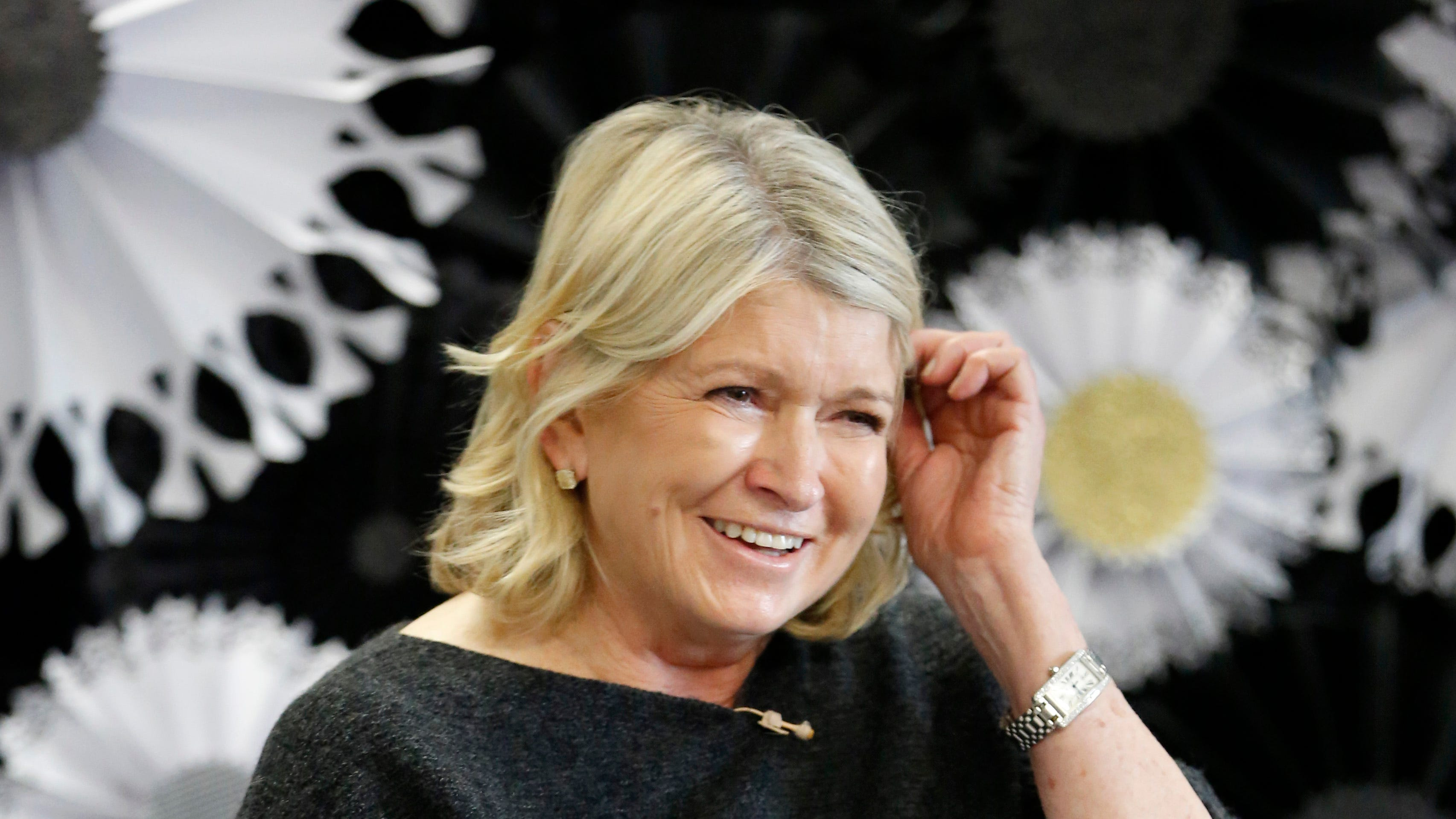 """""""The Queen of Halloween,"""" Martha Stewart, makes spectacularly spooky costumes and party accessories with Cricut and Michaels at a spirited DIY event on October 2, 2018 in New York City."""