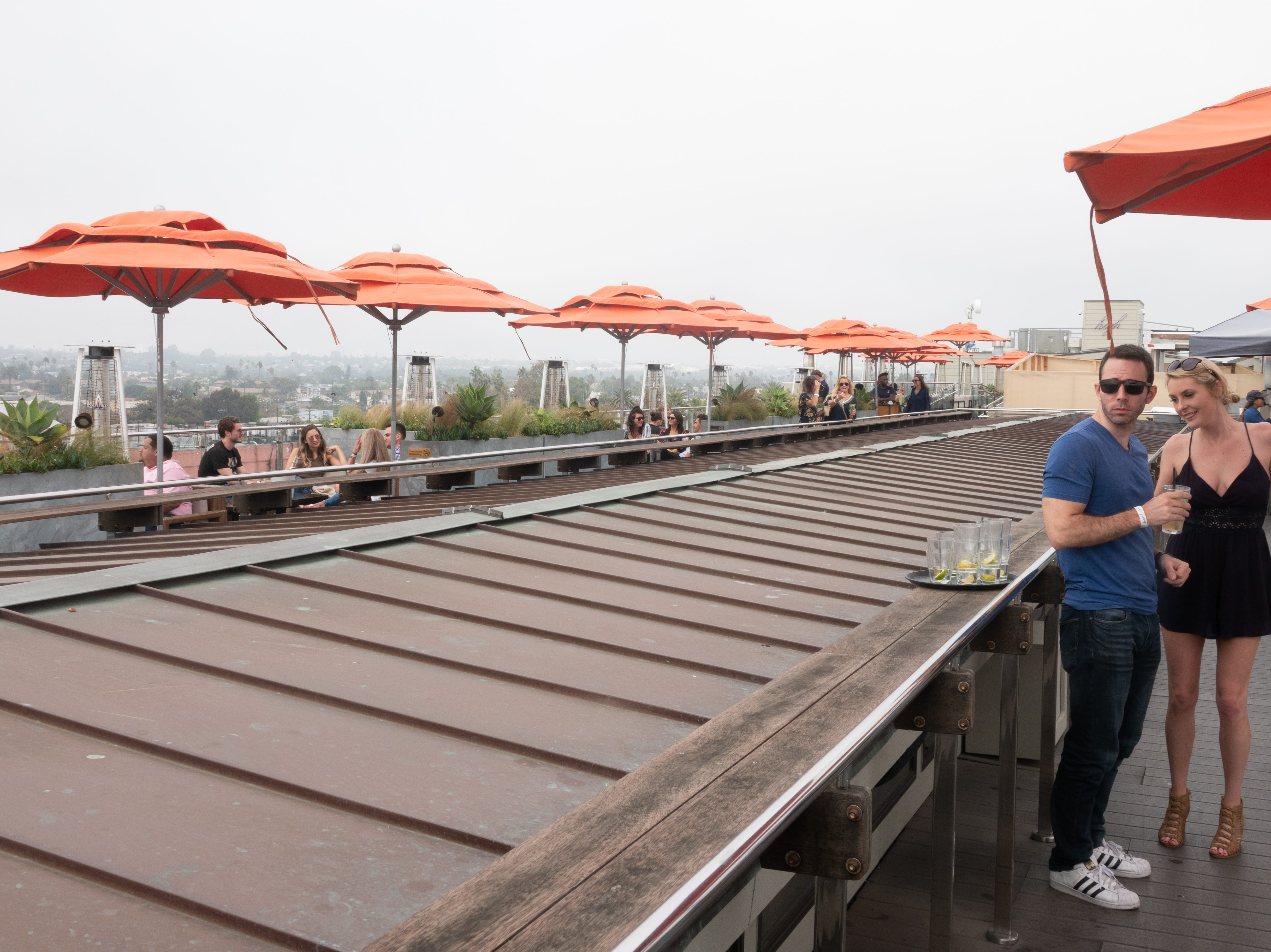 The Erwin Hotel has a rooftop bar for food, drink and views.