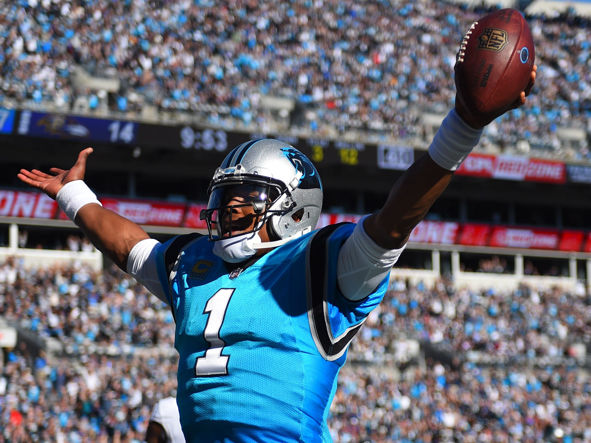 8. Panthers (10): Treat — Cam Newton played so well against Ravens' No. 1 defense, backup Taylor Heinicke got to play and complete career-long 13-yard pass.