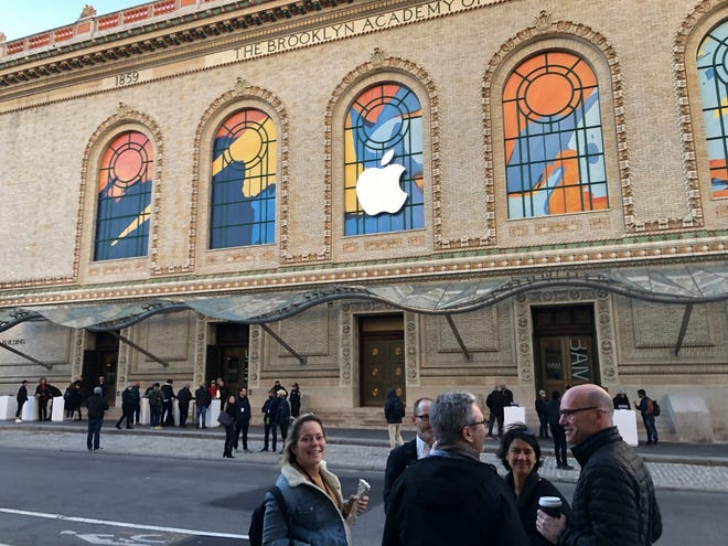 Apple takes over the Brooklyn Academy of Music for a press reveal.