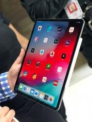 The new iPad Pro has a Liquid Retina display.